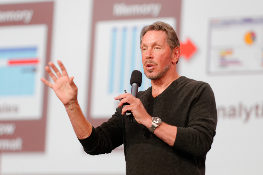 Larry Ellison podczas Oracle OpenWorld 2013