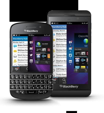 Telefony BlackBerry Z10 i Q10.