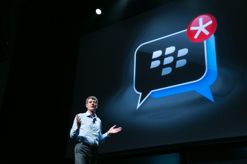 Thorsten Heins, dyrektor generalny BlackBerry podczas ubiegłorocznej konferencji BlackBerry Jam.