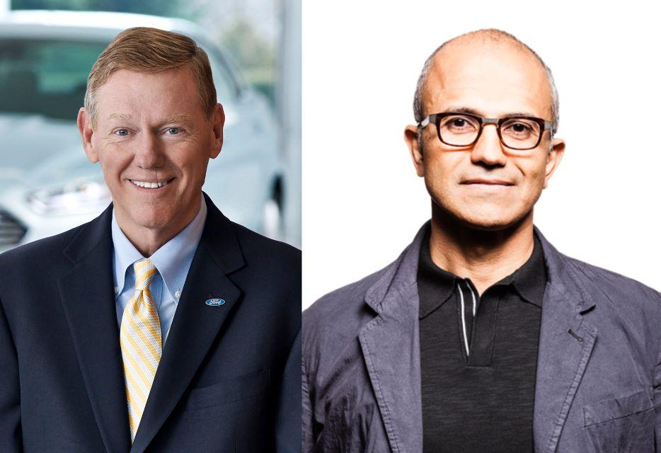 Alan Mullaly i Satya Nadella, dwaj najpoważniejsi kandydaci na stanowisko CEO firmy Microsoft