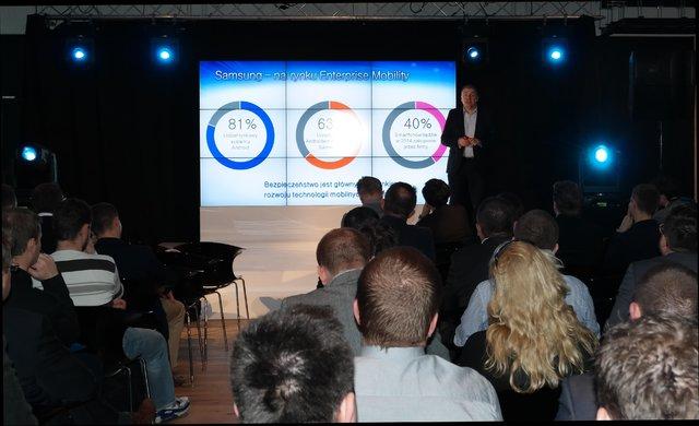 Maciej Filipkowski, wiceprezes Samsung Electronics Polska podczas konferencji Mobile Security Forum
