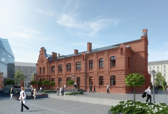 Google Kampus w dawnej fabryce wódek Koneser w Warszawie