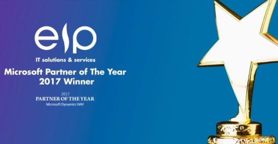 EIP zostałPartner of The Year 2017 for Dynamics NAV firmy Microsoft