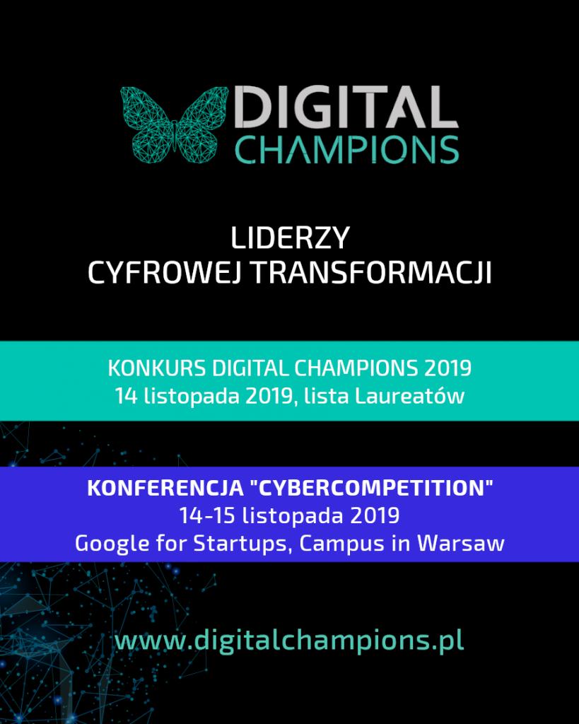 Laureaci konkursu Digital Champions w 2019 roku