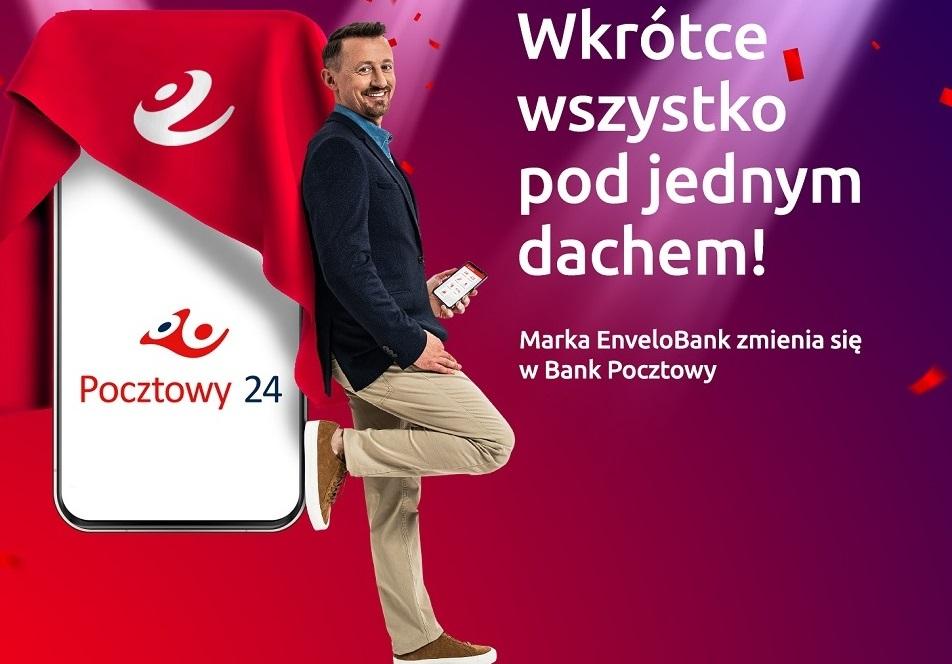 Marka EnveloBank zmienia się w Bank Pocztowy