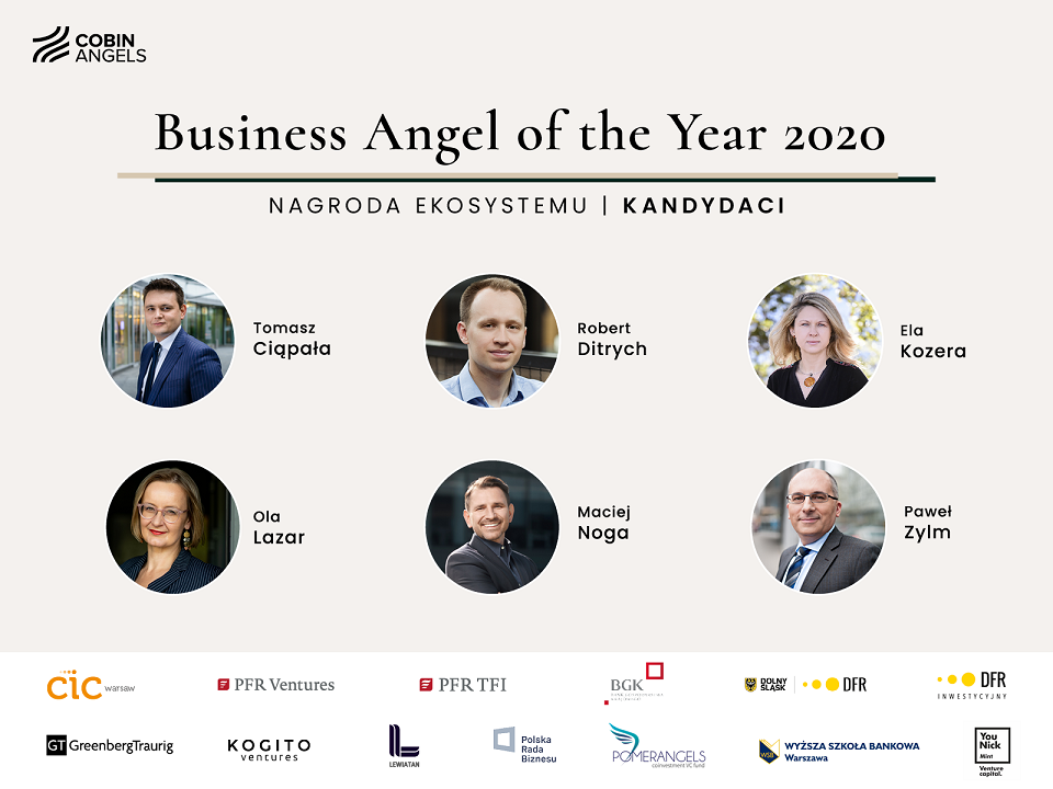 Poznaliśmy finalistów konkursu na Anioła Biznesu Roku 2020