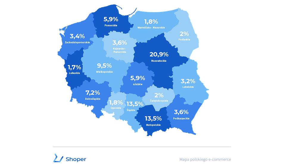 Raport Shoper: W 2020 roku podwoiła się liczba e-sklepów spożywczych