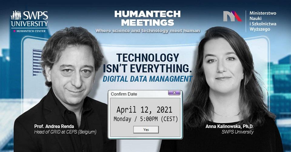HumanTech Meetings: Technologia to nie wszystko. Zarządzanie danymi cyfrowymi