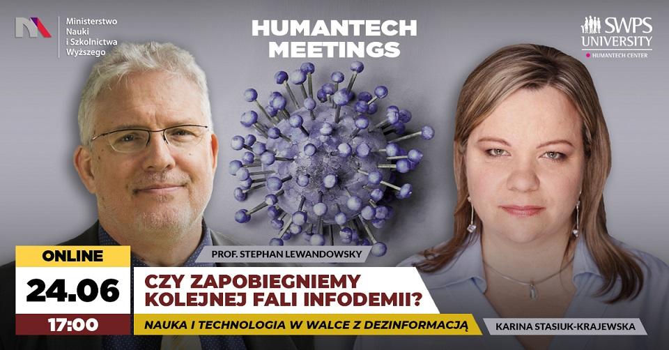 HumanTech Meetings: Czy zapobiegniemy kolejnej fali infodemii? Nauka i technologia w walce z dezinformacją